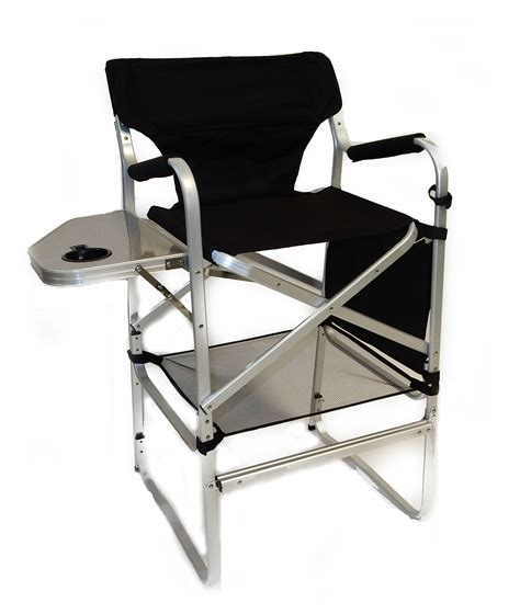 deluxe director chair w side table and cup holder