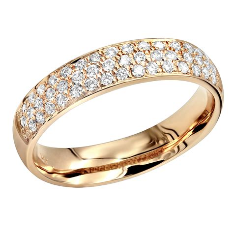 14k gold pave diamond wedding band for women anniversary ring diamonds