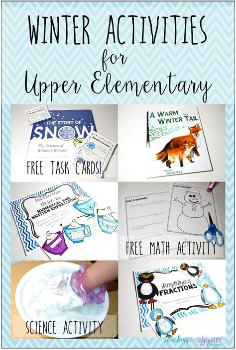 winter activities for upper elementary teaching to inspire with findley
