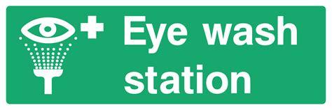 Eye wash station dimensions (l x w x h) : Eye Wash Station Sign - Wide - Big Printing