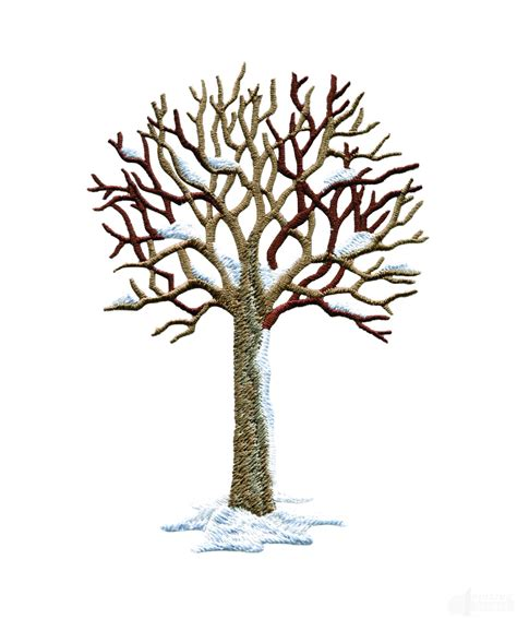 design a tree winter tree embroidery design