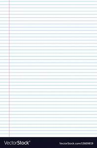 Notebook Paper Background Template With Royalty Free Vector