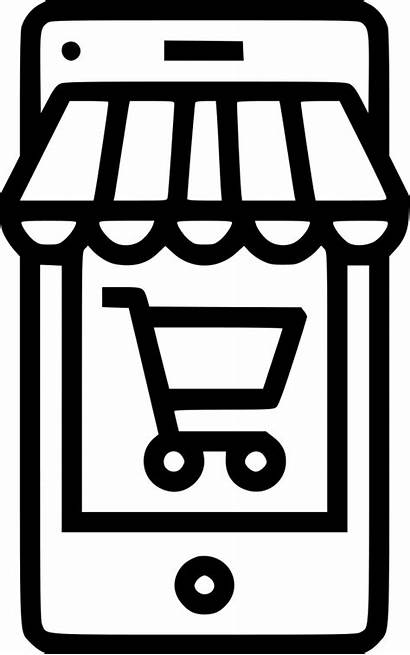 Clipart Icon Ecommerce Mobile Svg Cart Rupee
