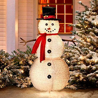 fluffy snowman outdoor christmas decoration holidays