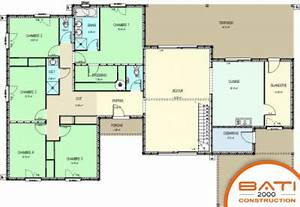 plan maison moderne plain pied 5 chambres With nice plan appartement 150 m2 5 plan maison 4 chambres 130m2