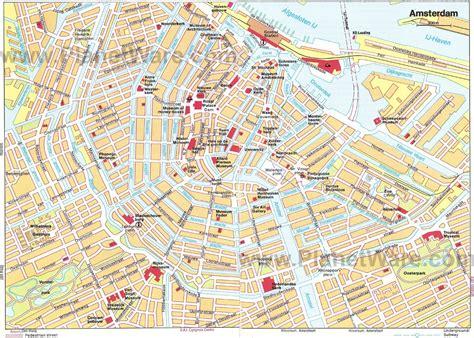 netherland travel info map  amsterdam travel info