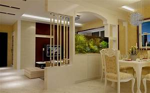Partition Dining Room Living Wall Design - DMA Homes #9642