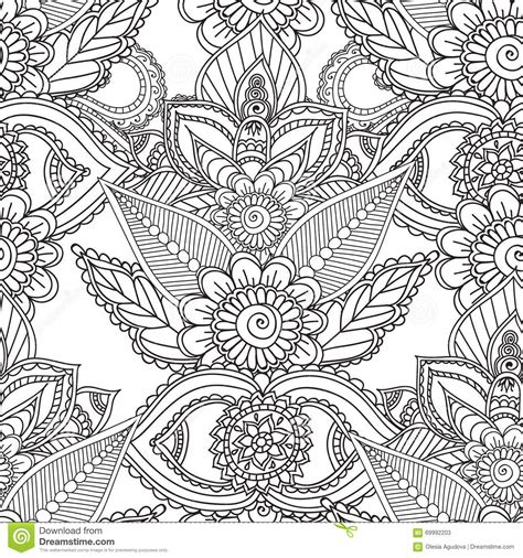 coloring pages  adults seamles henna mehndi doodles