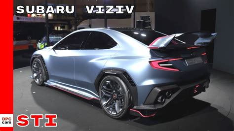 subaru viziv sti performance concept youtube