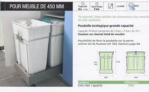 Poubelle Cuisine Sous Evier : poubelle sous evier ~ Carolinahurricanesstore.com Idées de Décoration