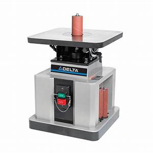Delta 1 2 hp heavy duty bench oscillating spindle sander for Sander table home
