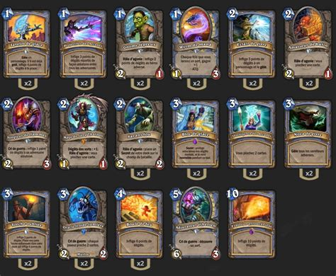 deck mage freeze aggro de tars hearthstone heroes of