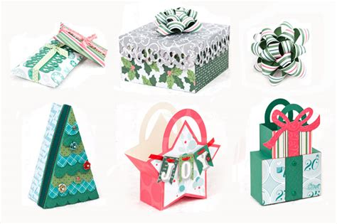 christmas gift bags and boxes svg kit 6 99 svg files for cricut silhouette sizzix and