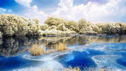 Nature River Wallpapers Landscape Forest Resolution Sweden