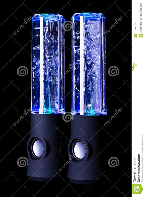 water light speakers pair of water light speaker stock image image