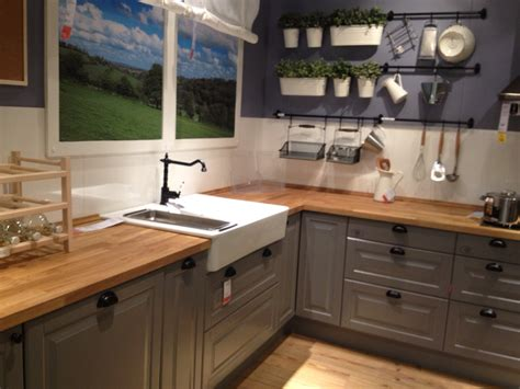 butcher block cabinet tops ikea gray kitchen cabinets with butcher block counter top home sweet home pinterest grey