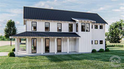 story modern farmhouse house plan canton