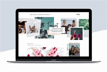 Squarespace Template Templates Transient Website Creativemarket Creative
