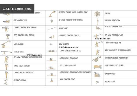 Types Of Camera Cad Symbols, Blocks Download, Free Autocad