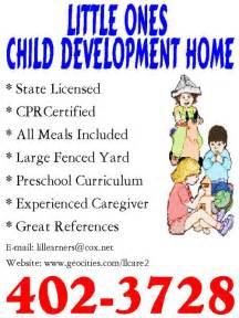 Home Child Care Flyer Sample