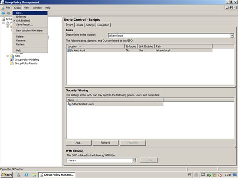 windows active directory group policy object