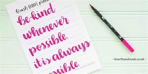 free printable brush pen hand lettering practice sheets With hand lettering brush pen