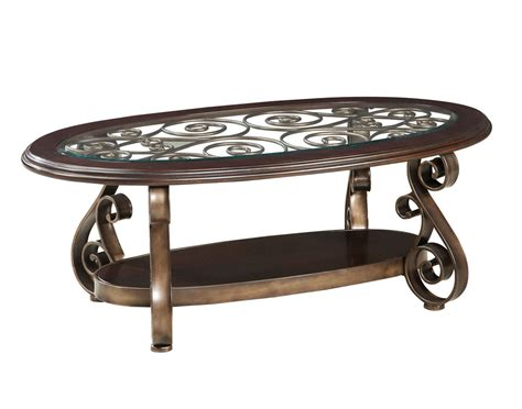 antique bronze table l standard furniture bombay oval glass top cocktail table in
