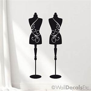 Mannequin decor wall decals dress forms sewing room