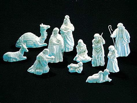 avon white porcelain nativity collectible figurines nib