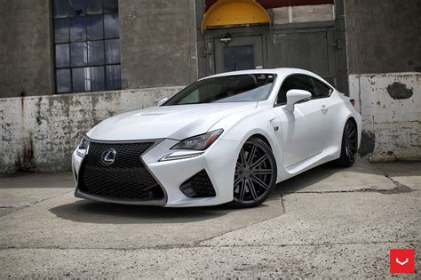 lexus rcf sedan white lexus rcf on vossen wheels has the look of a cult