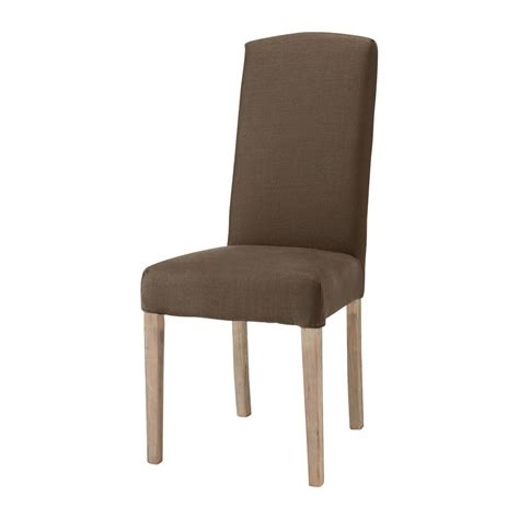 housse de chaise courte housse de chaise en marron maisons du monde
