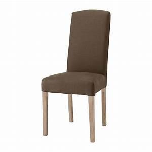 Housse De Chaise Maison Du Monde : housse de chaise en lin marron alice maisons du monde ~ Teatrodelosmanantiales.com Idées de Décoration