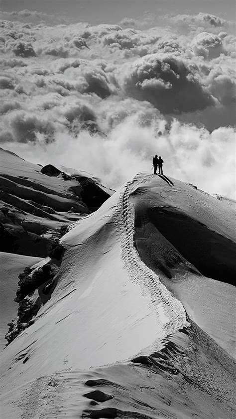 Black Wallpaper Iphone Mountain by Nature Black And White Mountain Wallpaper For Iphone X