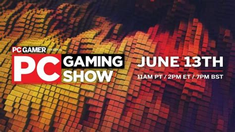 E3 2021's PC Gaming Show set for Sunday, June 13 ...