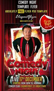 90 awesome free psd flyer templates page 2 of 3 With comedy night poster template