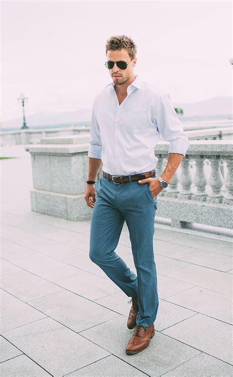 Men White Shirt Outfits-15 Ways to Wear White Button Down Shirts