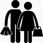 Icon Shopper Shopping Clipart Basket Symbol Icons