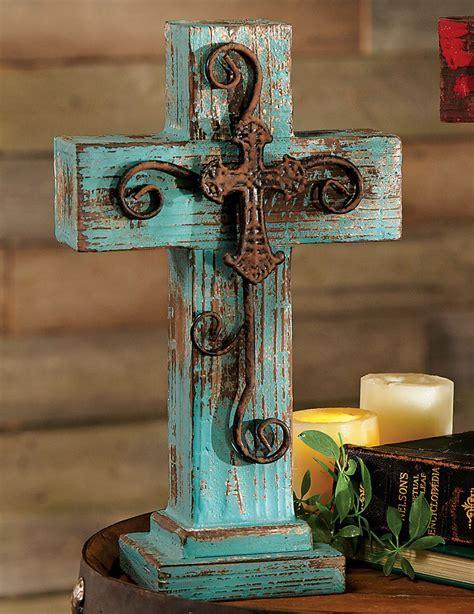 Santa Fe Standing Cross   Turquoise