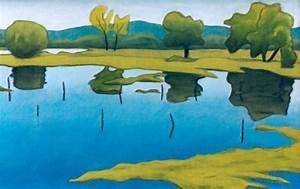 Blau Und Grün : landschaft blau und gr n frank hahn als kunstdruk of als handgeschilderd olieverfschilderij ~ Markanthonyermac.com Haus und Dekorationen