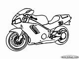 Motor Bike Coloring Pages Bikes Template Cars sketch template