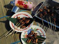 asiatischer fruehlingssalat mit satespiesschen rezept eat