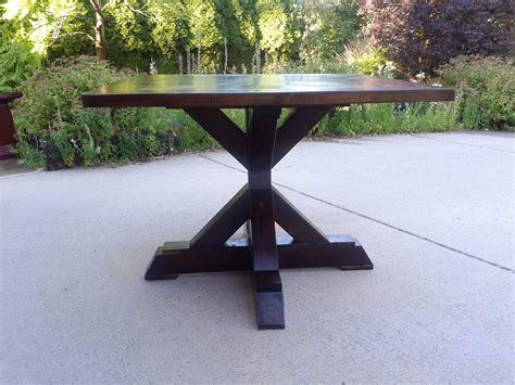 Pedestal Table Base by White X Base Pedestal Table Diy Projects
