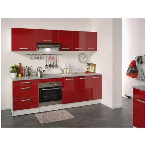 cuisine pas cher ile de cuisine complète 240 cm brillant shiny achat vente