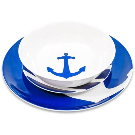 dinnerware melamine piece yacht camco left right