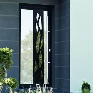 Portes d'entrée vitrée avec effet miroir et monoblocs avec grands décors aluminium ou avec