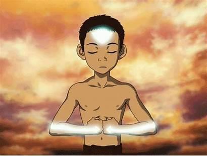 Aang Avatar State Last Airbender Anime Meditating