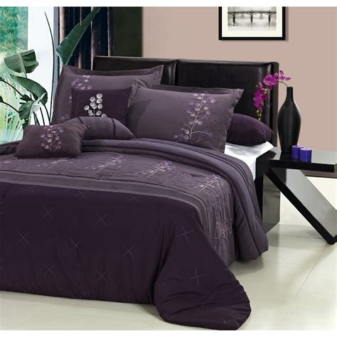 bedroom gray and purple king size bedding set feat single hung window magnificent