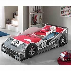 Lit Enfant Voiture : lit enfant voiture race n 1 gris ~ Preciouscoupons.com Idées de Décoration