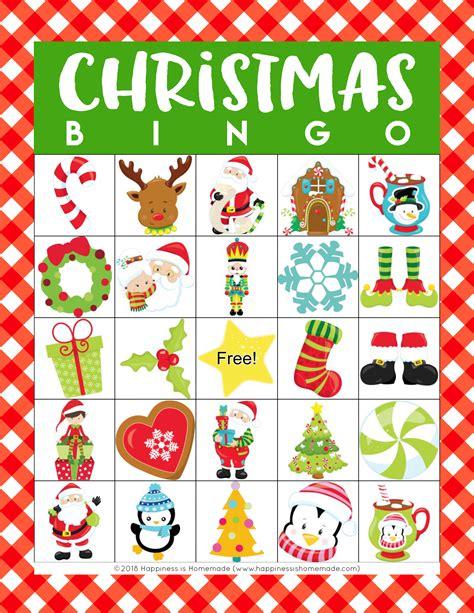 20 free printable christmas bingo cards. Printable Christmas Bingo Game - Happiness is Homemade
