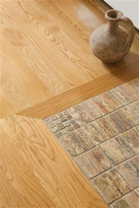 transitions from tile to a wood floor homestead